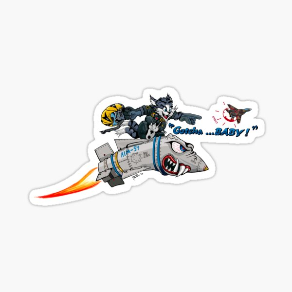 F-14 Tomcat 'Gotcha Baby Illustration Sticker