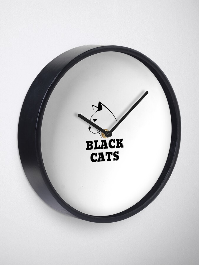 Alternate view of Black Cats Clock