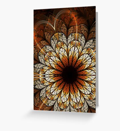 Passion - Abstract Fractal Artwork Greeting Card