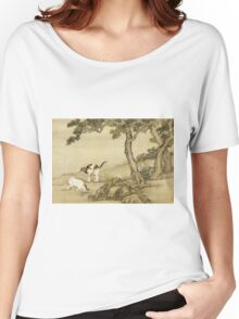 Shen Nanpin - Album Of Birds And Animals (Cats). Forest view: forest , trees,  fauna, nature, birds, animals, flora, flowers, plants, field, weekend Women's Relaxed Fit T-Shirt