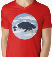 The Cloud Whale Mens V-Neck T-Shirt