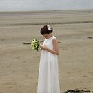 Wedding Angel on the Beach by mikequigley
