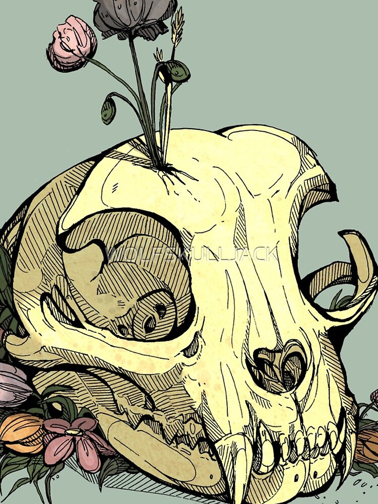 Little Skull Colour by WOLFSKULLJACK