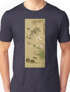 Suzuki Kiitsu - Birds And Flowers. Forest view: forest , trees,  fauna, nature, birds, animals, flora, flowers, plants, field, weekend Unisex T-Shirt