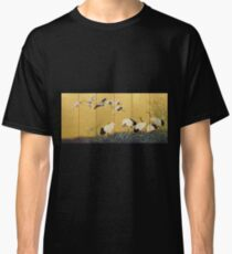 Suzuki Kiitsu - Reeds And Cranes. Forest view: forest , trees,  fauna, nature, birds, animals, flora, flowers, plants, field, weekend Classic T-Shirt