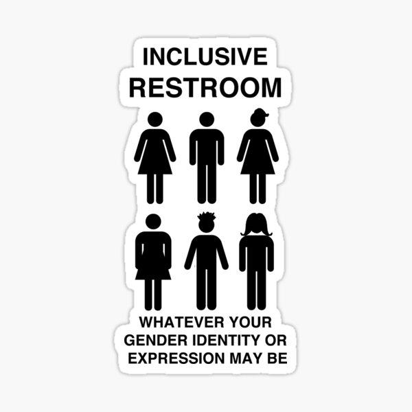 Inclusive Restroom Sign Sticker