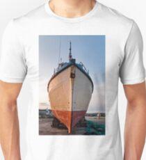 Fish trawler on land during  Unisex T-Shirt