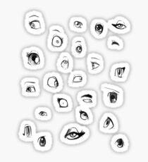 Sketch Eyes Sticker