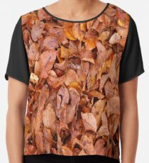 Automne Leaves Chiffon Top