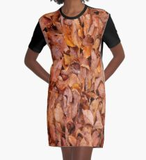 Automne Leaves Graphic T-Shirt Dress
