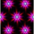 Neon Stars Fractal Art by Tori Snow