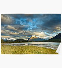 Sunset above Vermilion Lakes Poster