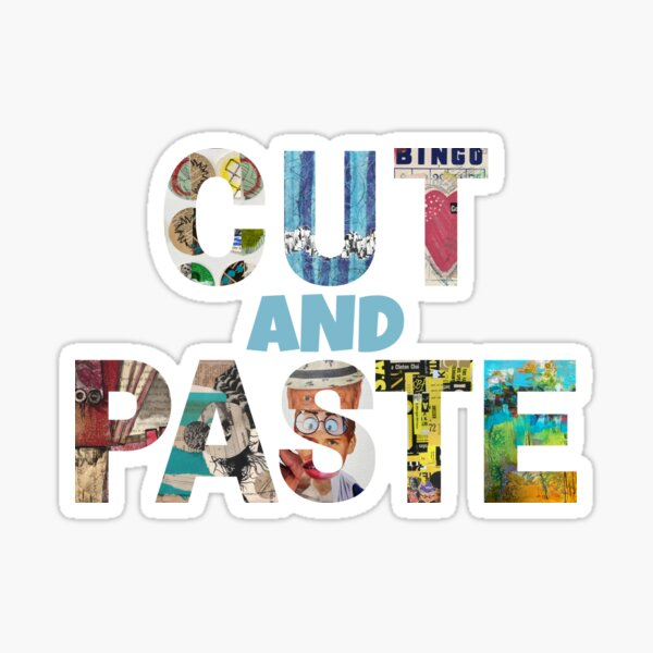 Cut and Paste Collage Artist Sticker