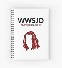 WWSJD? (Black) Spiral Notebook