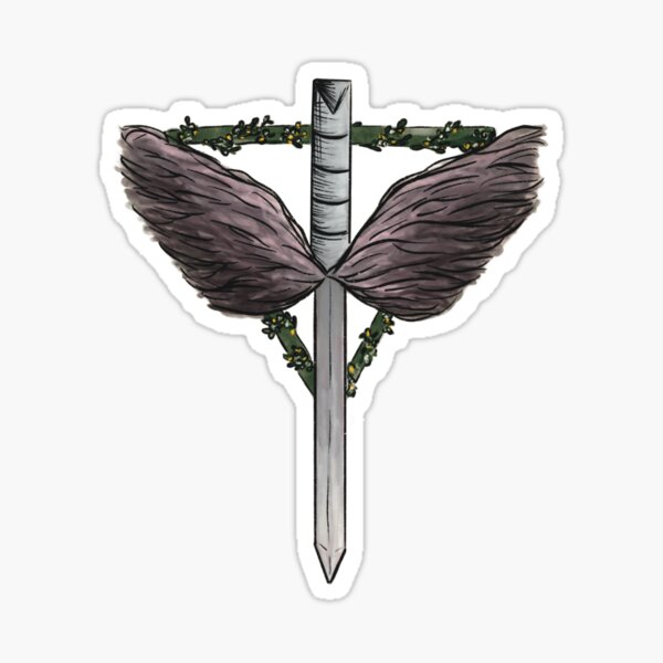 The angels shield Sticker