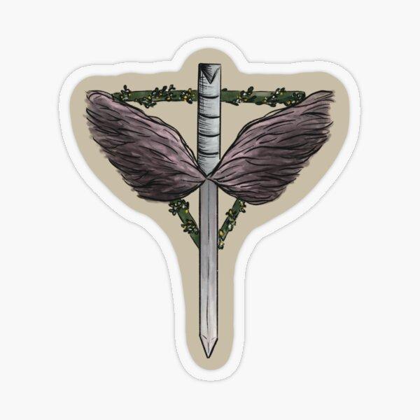 The Angels Shield, beige Transparenter Sticker