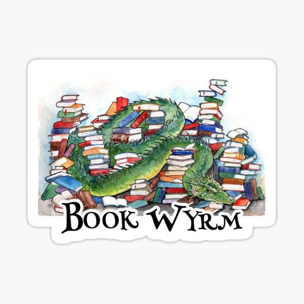 Book Wyrm Hoarder Sticker