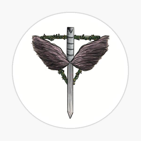 The Angels Shield, rund Sticker