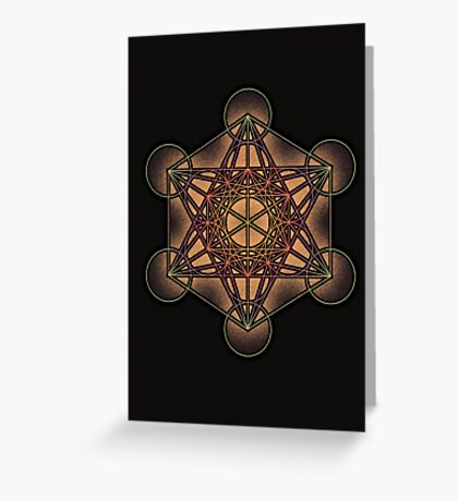 Metatron's Cube ~ Sacred Geometry Greeting Card