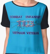 11Bravo - Combat Infantry - Vietnam Veteran Chiffon Top