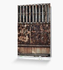 rusty door Greeting Card