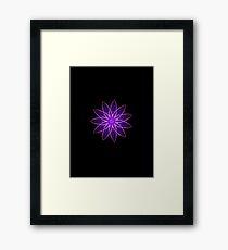 Fractal Flower - Purple Framed Print