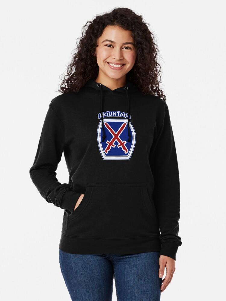 Army Veteran 10th Mountain Infantry Division Womens Pullover Hoodie Long Sleeve Hooded Sweatshirts U.S