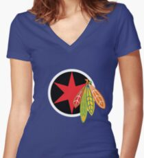 City of the Four Feathers Women's Fitted V-Neck T-Shirt