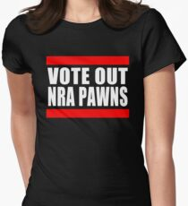 Vote Out NRA Pawns Women's Fitted T-Shirt