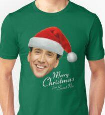 Frohe Weihnachten von St Nic-Olas Cage Slim Fit T-Shirt