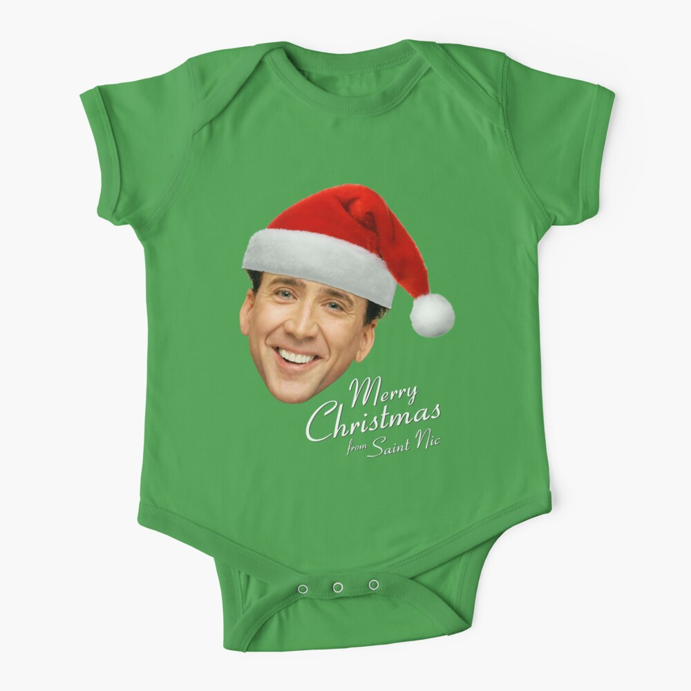 Merry Christmas from St Nic-olas Cage Baby One-Piece