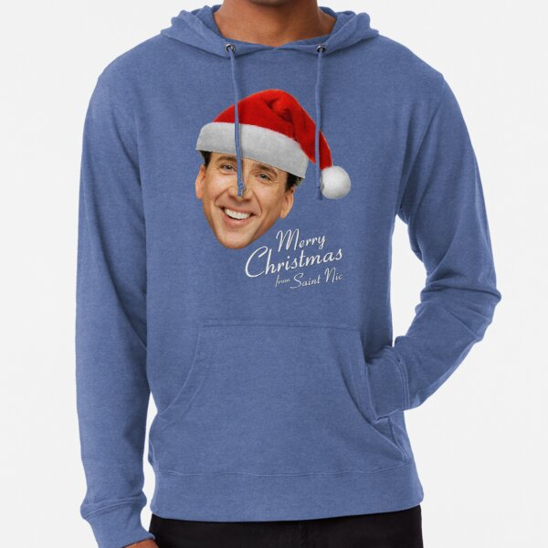Merry Christmas from St Nic-olas Cage Lightweight Hoodie