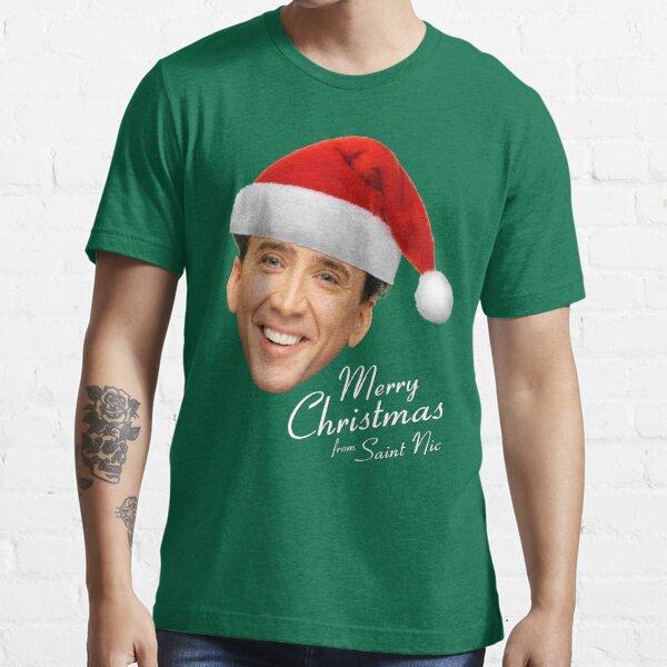 Feliz Navidad de la jaula de San Nic-olas Camiseta esencial