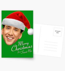 Merry Christmas from St Nic-olas Cage Postcards