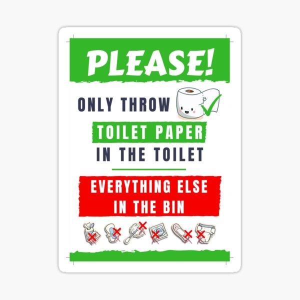 Do Not Flush Sign Sticker