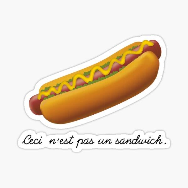 Ceci n'est pas un sandwich. Sticker