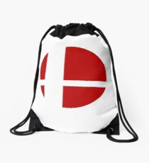 Super Smash Bros Logo Drawstring Bag