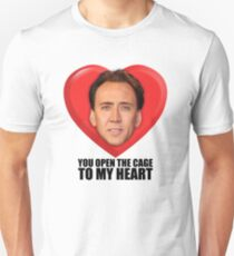 Nicolas Cage - You Open the Cage to My Heart Slim Fit T-Shirt