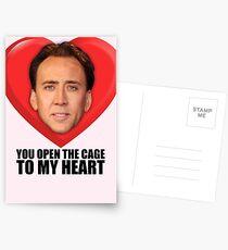 Nicolas Cage - Du öffnest den Käfig zu meinem Herzen Postkarten