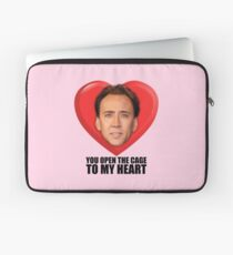 Nicolas Cage - You Open the Cage to My Heart Laptop Sleeve
