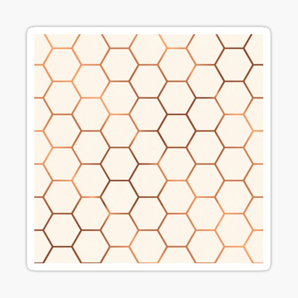 Rose gold copper honeycomb Sticker
