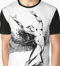 ICARUS THROWS THE HORNS - black ***FAV ICARUS GONE? SEE BELOW*** Graphic T-Shirt