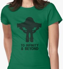 Buzz Lightyear: To Infinity & Beyond - Black Womens Fitted T-Shirt