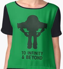 Buzz Lightyear: To Infinity & Beyond - Black Women's Chiffon Top