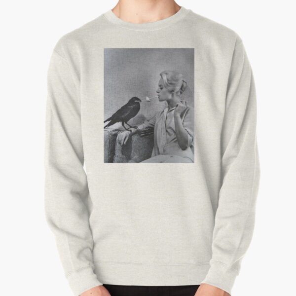Tippi Hedren having her cigarette lit by a crow on the set of The Birds Pullover Sweatshirt