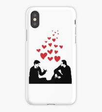 Cherik in the Field with Hearts iPhone Case/Skin