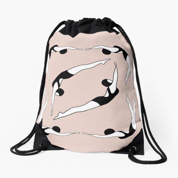 Synchronised swimming  Drawstring Bag