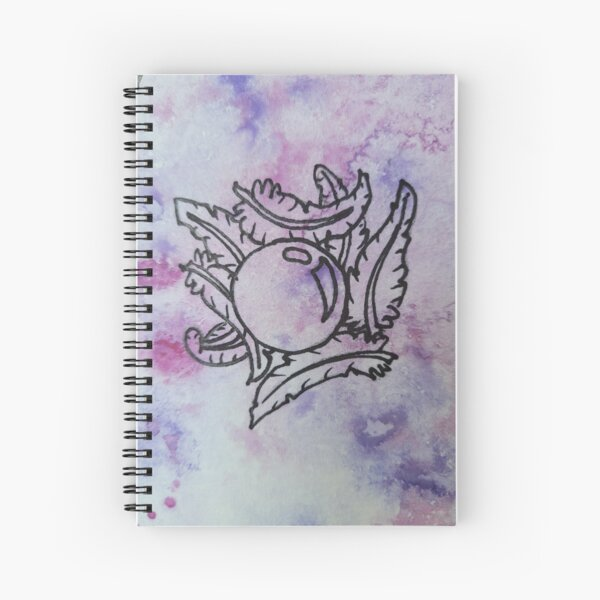 Worldsmyths Feathers and Globe Vertical Spiral Notebook