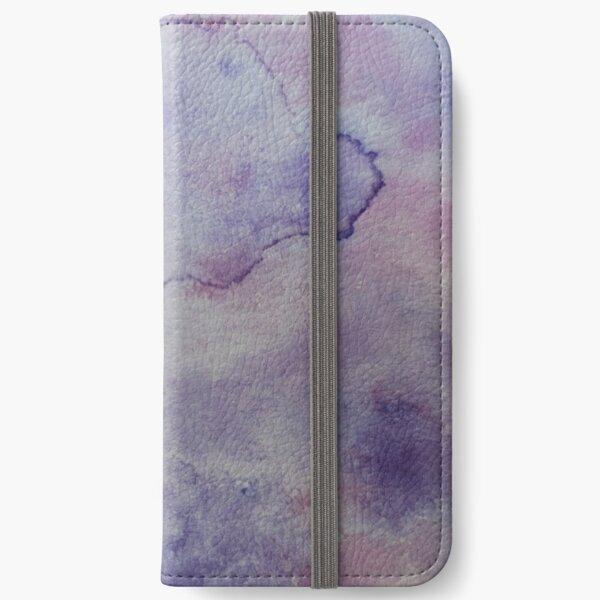 Purple Watercolor Painting iPhone Wallet