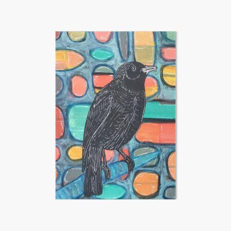 Blackbird Watcher Art Board Print